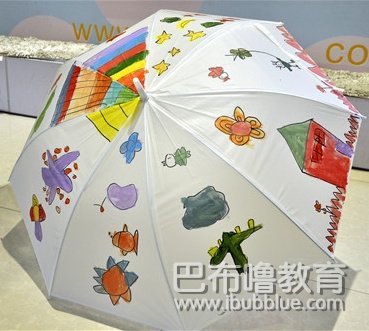 漂亮的手绘雨伞